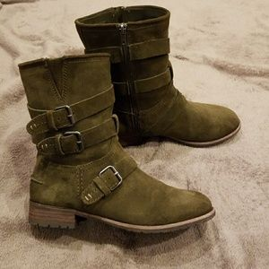 DV Dolce Vita Ferin Buckle Boots  Olive Green